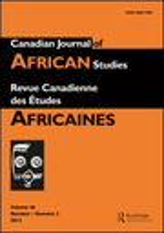 Canadian journal of African Studies / Revue canadienne des études africaines