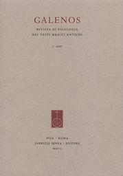 Galenos: Rivista di filologia dei testi medici antichi