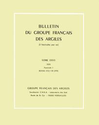 Bulletin du Groupe francais des argiles