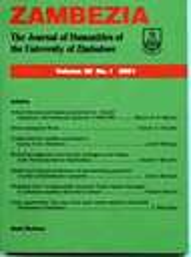 Zambezia : The Journal of Humanities of the University of Zimbabwe