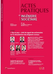 Actes pratiques & ingénierie sociétaire