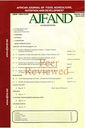 African Journal of Food, Agriculture, Nutrition and Development
