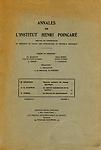 Annales de l'Institut Henri Poincaré