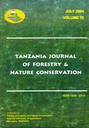 Tanzania Journal of Forestry and Nature Conservation