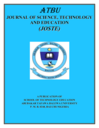 ATBU journal of science, technology and education