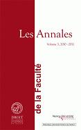Annales de la Faculté de droit, sciences économiques et gestion de Nancy