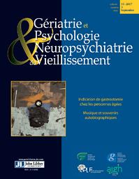 Gériatrie et psychologie & neuropsychiatrie du vieillissement