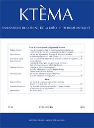 Ktèma : civilisations de l'Orient, de la Grèce et de Rome antiques