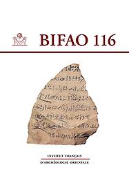 Bulletin de l'Institut français d'archéologie orientale