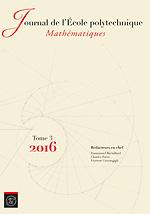 Journal de l'École polytechnique - Mathématiques
