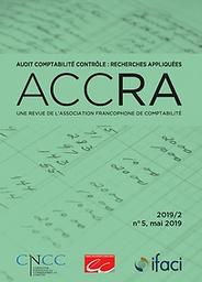 Audit Comptabilité Contrôle : Recherches Appliquées