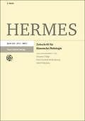 Hermes : Zeitschrift für classische Philologie