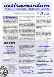 Instrumentum: bulletin du Groupe de travail europeén sur l'artisanat et les productions manufacturées dans l'Antiquité