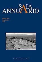Annuario della Scuola archeologica di Atene e delle missioni italiane in oriente