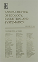 Annual review of ecology, evolution, and systematics