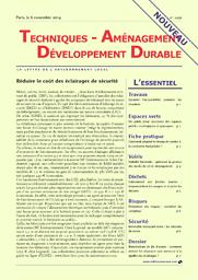 Techniques, aménagement, développement durable