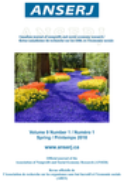 Canadian journal of nonprofit and social economy research = Revue canadienne de recherche sur les OSBL et l'économie sociale