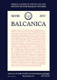 Balcanica  : annuaire de l'Institut des études balkaniques