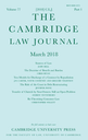 Cambridge law journal