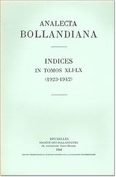 Analecta Bollandiana  : revue critique d'hagiographie  = A journal of critical hagiography