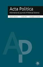 Acta politica  : tijdschrift voor politicologie