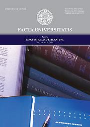 Facta Universitatis  Series, Linguistics and Literature
