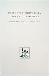 Princeton University Library chronicle