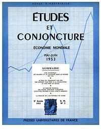 Études et conjoncture  : économie mondiale