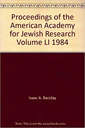 Proceedings of the American Academy for Jewish Research