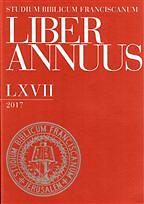 Liber annuus / Studium Biblicum Franciscanum