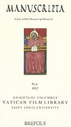 Manuscripta: A Journal for Manuscript Research