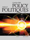 Canadian public policy = Analyse de politiques