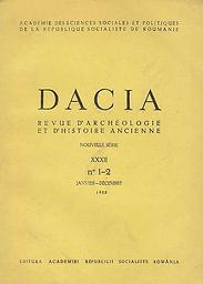 Dacia: revue d'archéologie et d'histoire ancienne