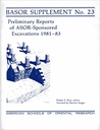 Bulletin of the American Schools of Oriental Research. Supplement studies