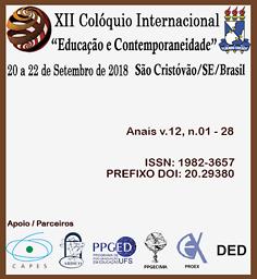 """Anais do Colóquio Internacional """"Educação e Contemporaneidade"""""""