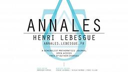 Annales Henri Lebesgue