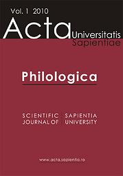 Acta Universitatis Sapientiae, Philologica
