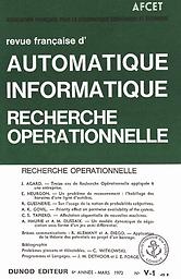 Revue française d'automatique, informatique, recherche opérationnelle. Mathématiques