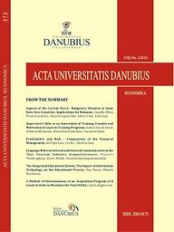 Acta Universitatis Danubius. Oeconomica