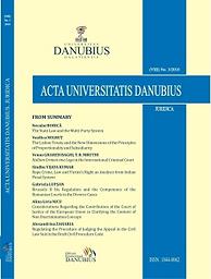 Acta Universitatis Danubius. Juridica