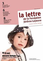Lettre de la Fondation Jérôme Lejeune
