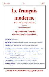 Français moderne  : revue de synthèse et de vulgarisation linguistiques