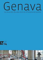 Genava  : revue d'histoire de l'art et d'archéologie