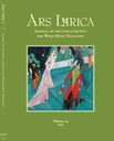 Ars lyrica: journal of the Lyrica Society for Word-Music Relations