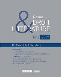 Revue Droit & Littérature