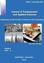 Journal of Fundamental and Applied Sciences = Revue des sciences fondamentales et appliquées