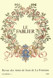 Fablier. Revue des Amis de Jean de La Fontaine