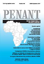 Penant : revue de droit des pays d'Afrique