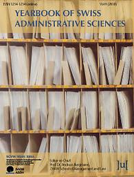 Annuaire des sciences administratives suisses = Yearbook of Swiss Administrative Sciences = Jahrbuch der Schweizerischen Verwaltungswissenschaften