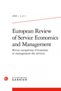 European Review of Service Economics and Management
